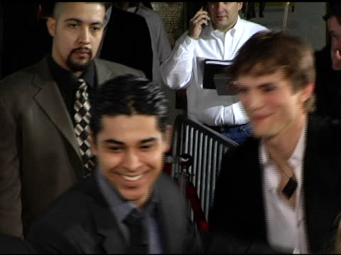 wilmer valderrama at the 'guess who' premiere at grauman's chinese theatre in hollywood california on march 13 2005 - wilmer valderrama stock videos & royalty-free footage