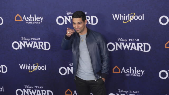 wilmer valderrama at the onward world premiere at the el capitan theatre on february 18 2020 in hollywood california - wilmer valderrama stock videos & royalty-free footage