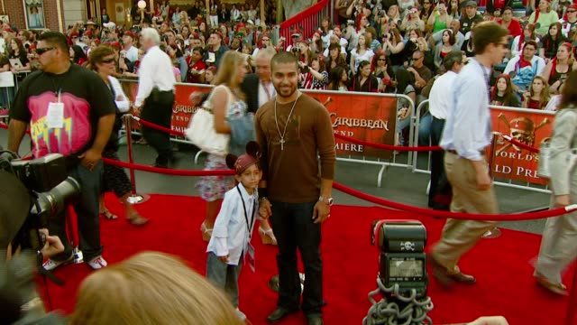 wilmer valderrama at the 'pirates of the caribbean at world's end' world premiere at disneyland in anaheim california on may 19 2007 - wilmer valderrama stock videos and b-roll footage