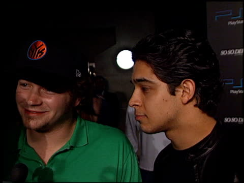 wilmer valderrama at the playstation 2 grammy party at pacific design center in west hollywood california on february 25 2002 - wilmer valderrama stock videos & royalty-free footage