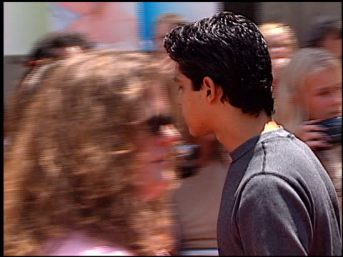 wilmer valderrama at the premiere of 'the princess diaries' at the el capitan theatre in hollywood, california on july 29, 2001. - wilmer valderrama stock videos & royalty-free footage