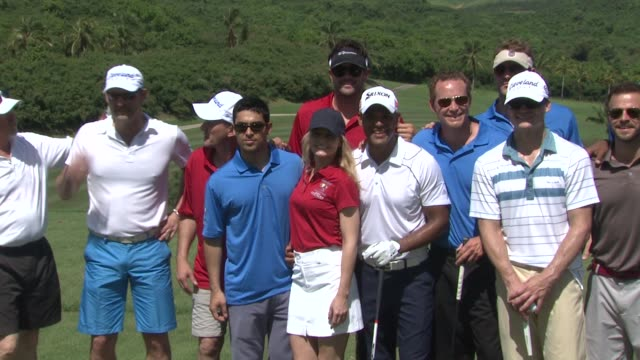 wilmer valderrama jennifer morrison amaury nolasco matt leinert and cole houser at the 2nd annual amaury nolasco friends golf classic at fajardo - wilmer valderrama stock videos & royalty-free footage