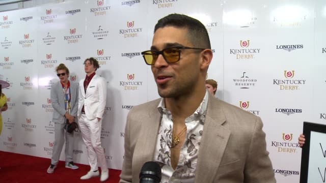 interview wilmer valderrama on how he feels to be celebrating the kentucky derby talks about his betting strategy and his derby look at the kentucky... - wilmer valderrama stock videos & royalty-free footage
