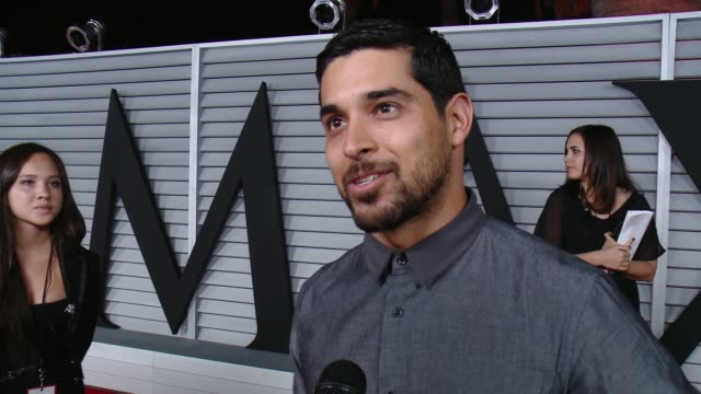 interview wilmer valderrama on the event and on what he's working on currently at the maxim hot 100 and relaunch party at pacific design center on... - wilmer valderrama stock videos & royalty-free footage