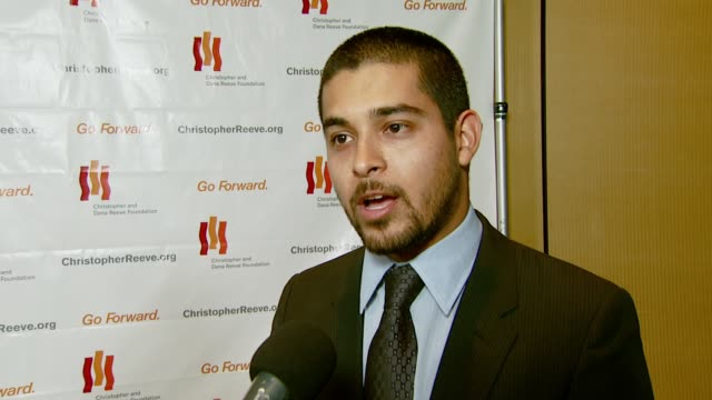 wilmer valderrama on why he came to the event on supporting the cause and representing young hollywood within the foundation about his current... - christopher and dana reeve foundation stock videos and b-roll footage