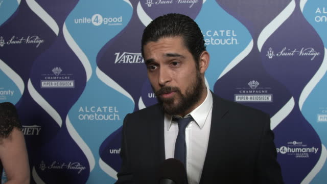 interview wilmer valderrama on why it was important to him to be a part of the evening why he thinks the entertainment industry can have an impact in... - wilmer valderrama stock videos & royalty-free footage