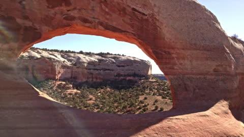 wilson arch near moab utah usa - canyon stock videos & royalty-free footage