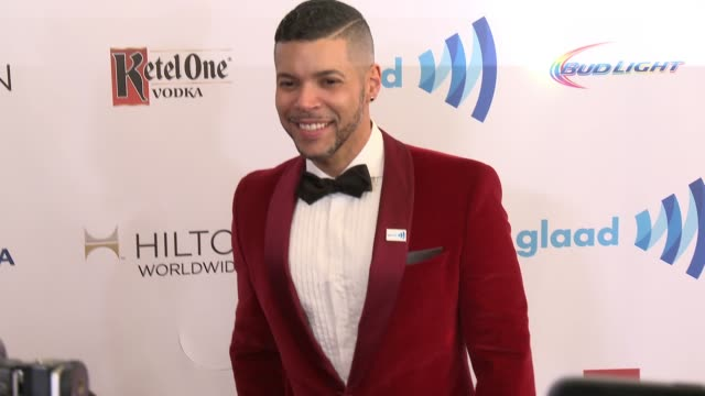 wilson cruz at the 25th annual glaad media awards at the beverly hilton hotel on april 12 2014 in beverly hills california - the beverly hilton hotel stock-videos und b-roll-filmmaterial
