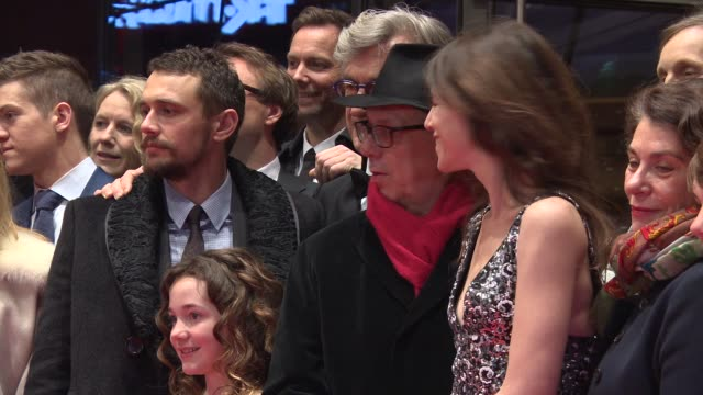 BROLL Wim Wenders James Franco Charlotte Gainsbourg Robert Naylor Lilah Fitzgerald Marie Josee Croze 'Everything Will be Fine' Carpet 65th Berlin...