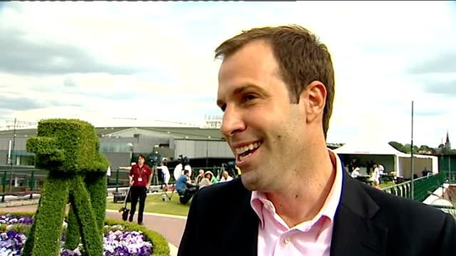 john isner wins longest ever tennis match; greg rusedski interview sot - incredible ... - international tennis federation stock videos & royalty-free footage