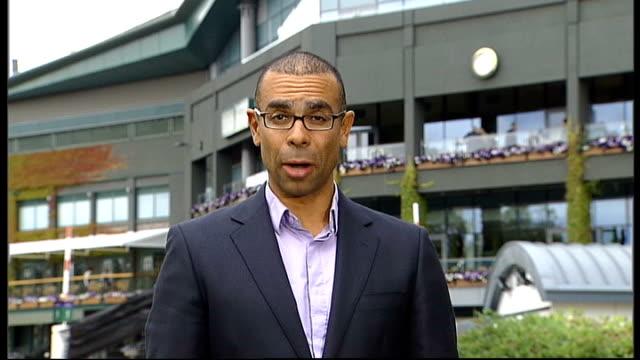 day five highlights; reporter to camera - 5日目点の映像素材/bロール