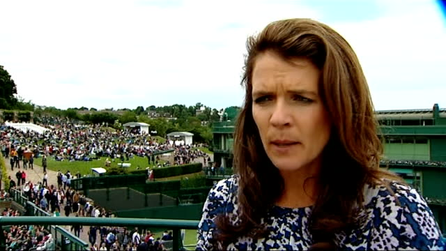 first round rafael nadal knocked out / andy murray through annabel croft interview sot - croft stock videos & royalty-free footage