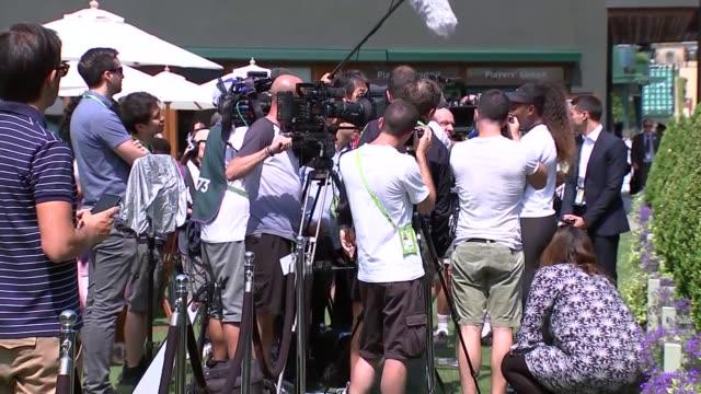 serena williams doorstep interview; uk, london, wimbledon, all england club: serena williams interview. england: london: wimbledon: all england club:... - serena williams tennis player stock videos & royalty-free footage