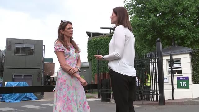 Serena Williams through to women's final ENGLAND London Wimbledon All England Club EXT Annabel Croft interview SOT