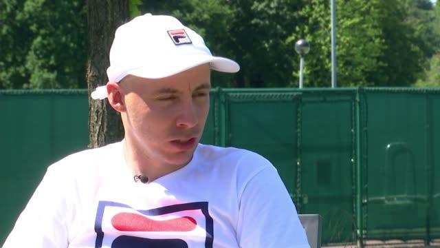 Quad Tennis star Andy Lapthorne preparing to make Wimbledon debut ENGLAND London Wimbledon EXT Andy Lapthorne interview SOT
