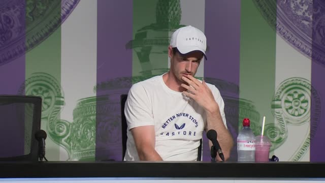 sir andy murray talks of the prospect of facing his brother in the men's doubles competition england london wimbledon all england lawn tennis club... - press room stock videos & royalty-free footage