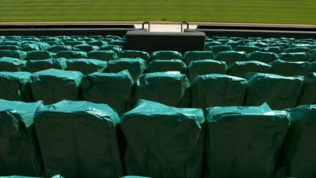 wimbledon cancelled for first time since second world war england london wimbledon all england lawn tennis and croquet club ext harriet dart... - war and conflict stock-videos und b-roll-filmmaterial