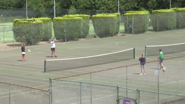 wimbledon cancelled for first time since second world war england london wimbledon all england lawn tennis and croquet club ext gv sign 'the... - slice stock videos & royalty-free footage