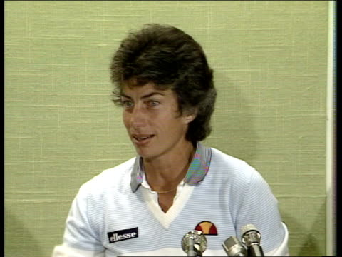 """london: wimbledon: virginia wade intvw sof """"well i have to keep -- going to try to."""" video ob/eng tx'd 27.6.83/nat archive tape & cas 26423 83/5845... - international tennis federation stock videos & royalty-free footage"""
