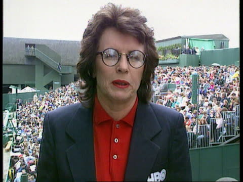 wimbledon int cs photo of covers being pulled across court in 1909 pull out another ms dummies wearing old tennis gear ms ditto cms billy jean king... - billie jean king stock videos & royalty-free footage