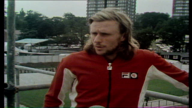 wimbledon men's final, bjorn borg wins for third time; borg sof: 'you know before ............................. very good tennis' vtr archive tape... - international tennis federation stock videos & royalty-free footage
