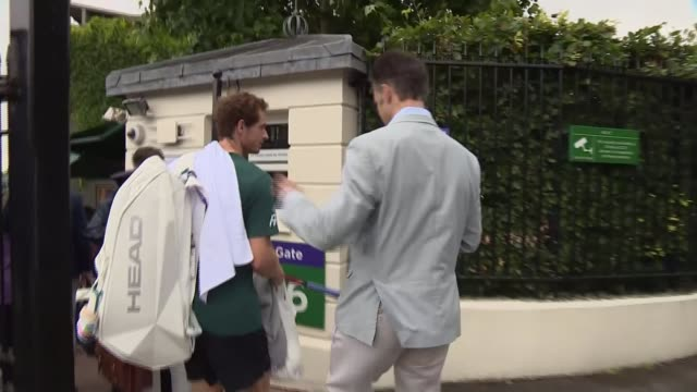 Murray loses to Querrey in quarter finals ENGLAND London Wimbledon EXT World number one Sir Andy Murray arriving at the All England Lawn Tennis Club...