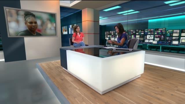 Wimbledon officials debate seeding Serena Williams following maternity leave ENGLAND London GIR INT Anna Kessel LIVE STUDIO interview SOT