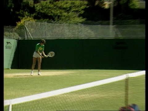 jo durie england jo durie interview sof ms jo durie in practice on grass court pull out ms alan jones interview sof you know i try to be a than i ms... - 1983 stock videos & royalty-free footage