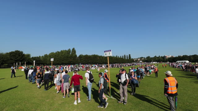 wimbledon queue, wimbledon, england - building entrance stock videos & royalty-free footage
