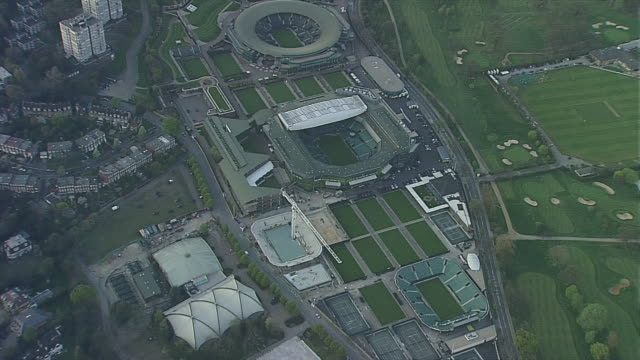 wimbledon tennis 3 - sports court stock videos & royalty-free footage