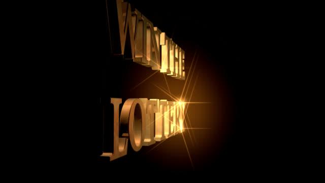gewinnen der lotterie - lotterie stock-videos und b-roll-filmmaterial