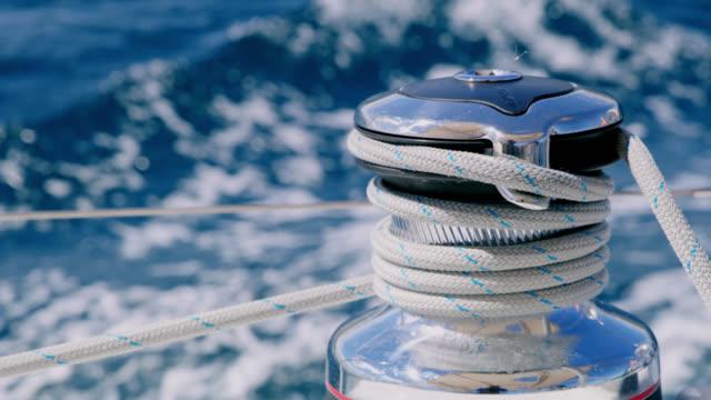 CU Winch of a sailing sailboat