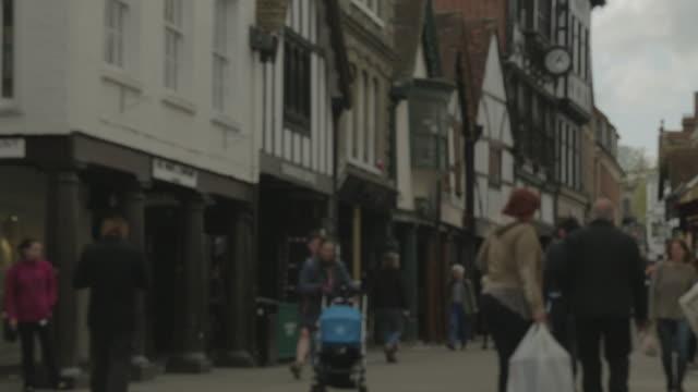 vídeos de stock e filmes b-roll de winchester high street - tudor