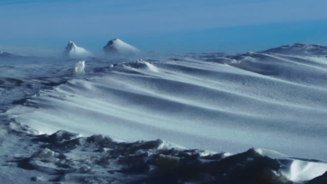 wind blowing across the field of snow / north pole - deep snow stock videos & royalty-free footage