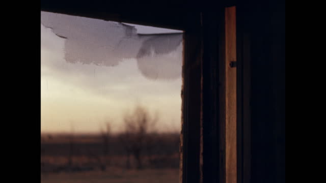 wind blowing broken screen in empty house - broken stock videos & royalty-free footage