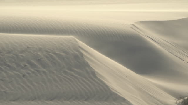 wind blowing over sand dunes - sand stock videos & royalty-free footage