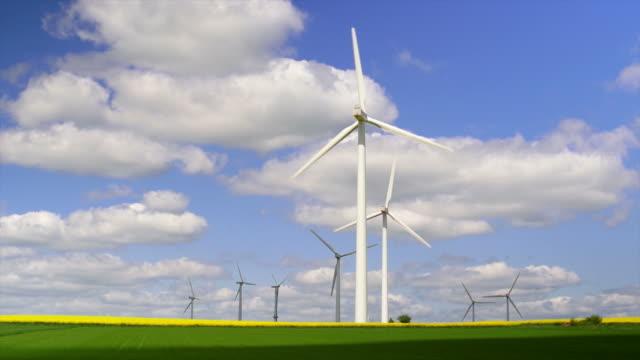 Wind Farm In Spring
