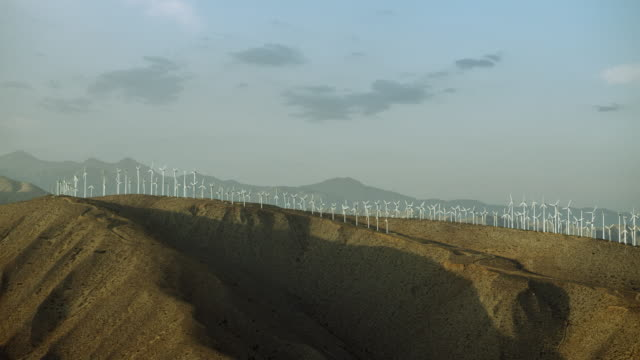 wind farm near palm springs california - palm springs california stock videos & royalty-free footage