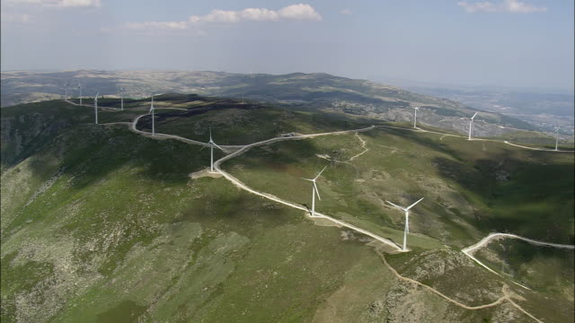 AERIAL WS Wind farm / Serra do Alvao, Vila Real, Portugal