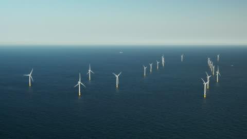 wind farm - nordsee stock-videos und b-roll-filmmaterial