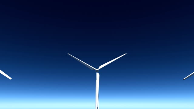 wind farm - matte image technique stock videos and b-roll footage
