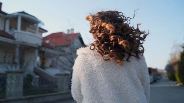 wind in hair - curly stock videos & royalty-free footage