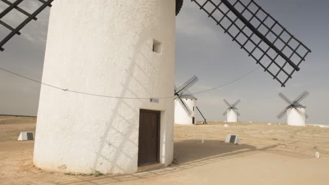 wind mill of don quixote (close up) - pueblo bonito stock videos & royalty-free footage