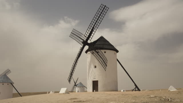 wind mill of don quixote - sustainable tourism stock videos & royalty-free footage