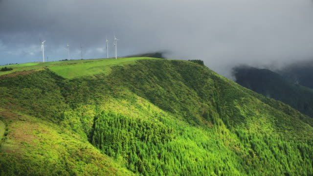 wind mills at sao miguel island - atlantic islands stock videos & royalty-free footage