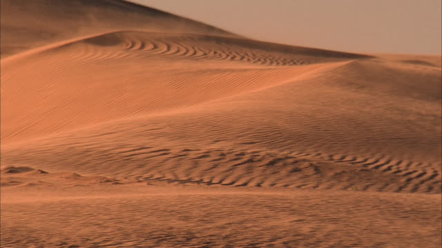 ms, pan, wind on sand dunes / california - palm springs california stock videos & royalty-free footage
