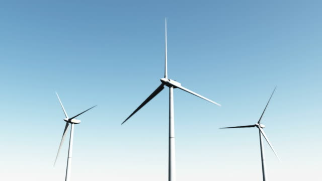 wind power - day time - three objects stock videos & royalty-free footage