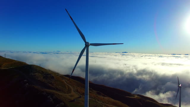 Wind Power in the sea of clouds