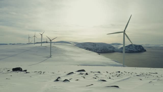 wind power sustainable resource in the arctic - remote location stock videos & royalty-free footage