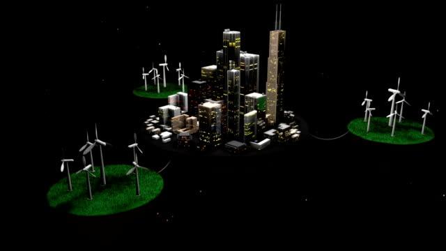 stockvideo's en b-roll-footage met wind powered city - nieuwe wegen betreden